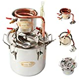 Ama_TrulyStep MSC03 Copper Alcohol Moonshine Ethanol Still Spirits Boiler Water Distiller, 20 Litres