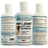 All Natural Liquid Glucosamine for Dogs, Advanced Hip and Joint Formula Alleviates Pain - 32 Ounces