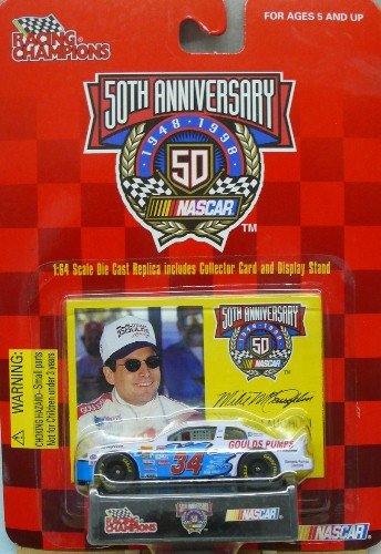 Racing Champions - NASCAR - 50th Anniversary - 1999 - Mike McLaughlin - No. 34 Goulds Pumps Chevrolet Monte Carlo - 1:64 Die Cast Replica Car and Collector Card