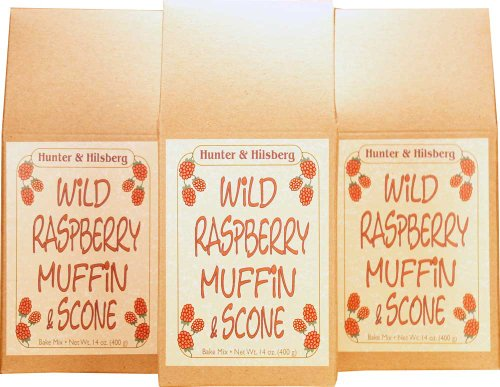 Hunter & Hilsberg Wild Raspberry Muffin and Scone Mix, 12-Ounce (Pack of 3)