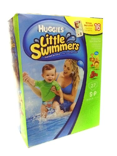 Huggies Little Swimmers Disposable Swimpants 27 SP 16 - 26 lbs. Bonus 16 Wipes Included! - 1