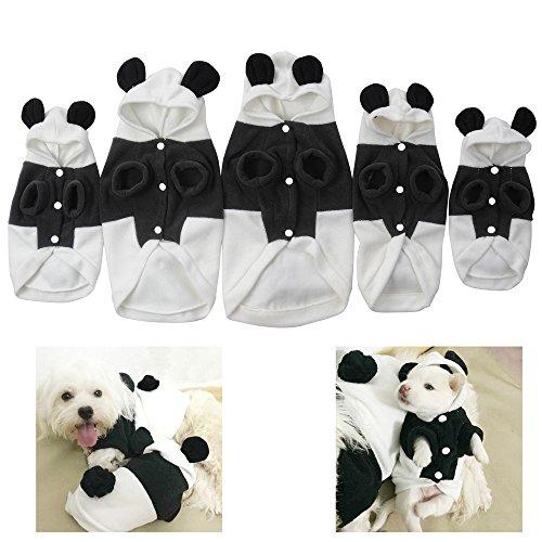 [Yunt Cute Fleece Pet Dog Panda Clothes Puppy Hoodie Warm Coat Doggy Cat Outwear Apparel] (Pet Panda Costume)