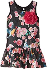 Pippa amp Julie Little Girls39 Perforated Floral Dress