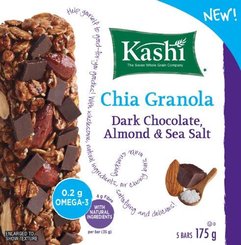 Kashi Chia Chocolate Almond and Sea Salt Chewy Granola Bar, 5 Bars, 175gm