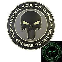 ACU GOD WILL JUDGE OUR ENEMIES Glow Dark Punisher DEVGRU Marine Navy Seals PVC Velcro Écusson Patch