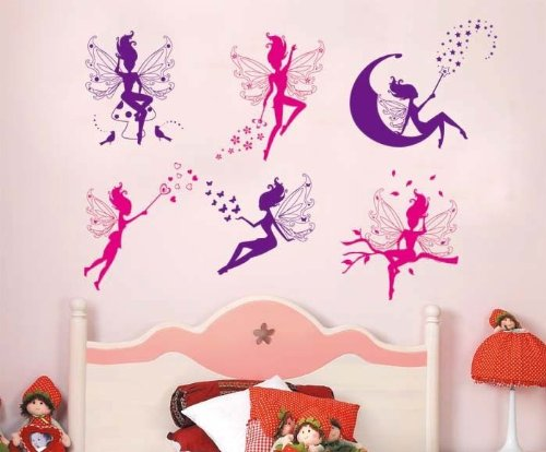 Fairy Design Wall Stickers Baby Girl Room Decor Decals Mural Diy Decoration Art front-12732