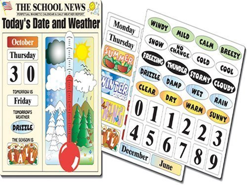 Magnetic Calendar & Weather Chart