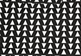 Jumbo Textil Arrow Design Apron - Black & White
