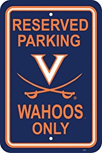 Buy NCAA Virginia Cavaliers 12-by-18 inch Plastic Parking Sign by BSI
