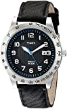 Timex Men's T2N920 Elevated Classics Stainless Steel Watch with Black Band