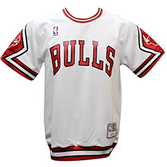Chicago Bulls Authentic Shooting Shirt - Traditional -White by adidas
