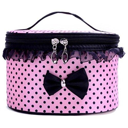 Beauty Case, Culater® portatile toilette Viaggi trucco cosmetico del sacchetto del supporto dell'organizzatore borsa (Rosa)
