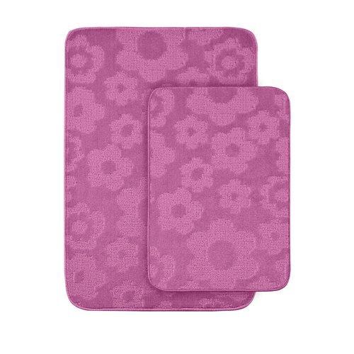 Garland Rug Flower 2-Piece Bath Rug Set, Pink front-830259