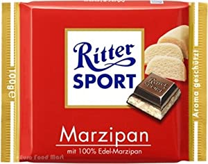 Ritter Sport Marzipan Chocolate 100g Bar