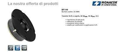 DT-99-HiFi tweeter à dôme - 103880