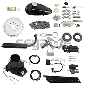 Segawe NEW Style Black 80cc 2-stroke Motorized Bicycle Bike Gas Engine Motor Kit -- Black