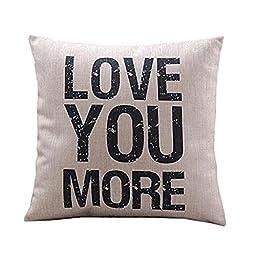 SMTSMT Cotton Linen Cushion Throw Pillow Covers Pillowslip Case (18\