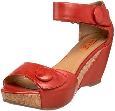 Miz Mooz Women's Yael Ankle-Strap Sandal,Red,6.5 M US
