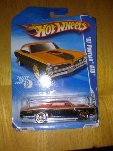 Hot Wheels '67 Pontiac GTO 6/10 Faster than ever 2010 134/240 (orange) - 1