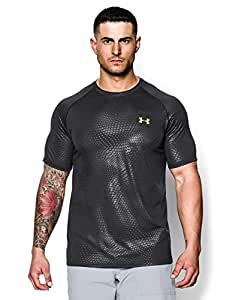 Under Armour Men's UA Tech™ Patterned Short Sleeve T-Shirt Large Black