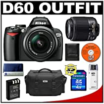 Nikon D60 Digital SLR Camera with 18-55mm AF-S VR Zoom Lens + Nikon 55-200mm AF-S Zoom Lens + 4GB SD Card + EN-EL9 Battery + Case + Cameta Bonus Accessory Kit