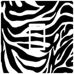 grapic zebra print light switch cover...