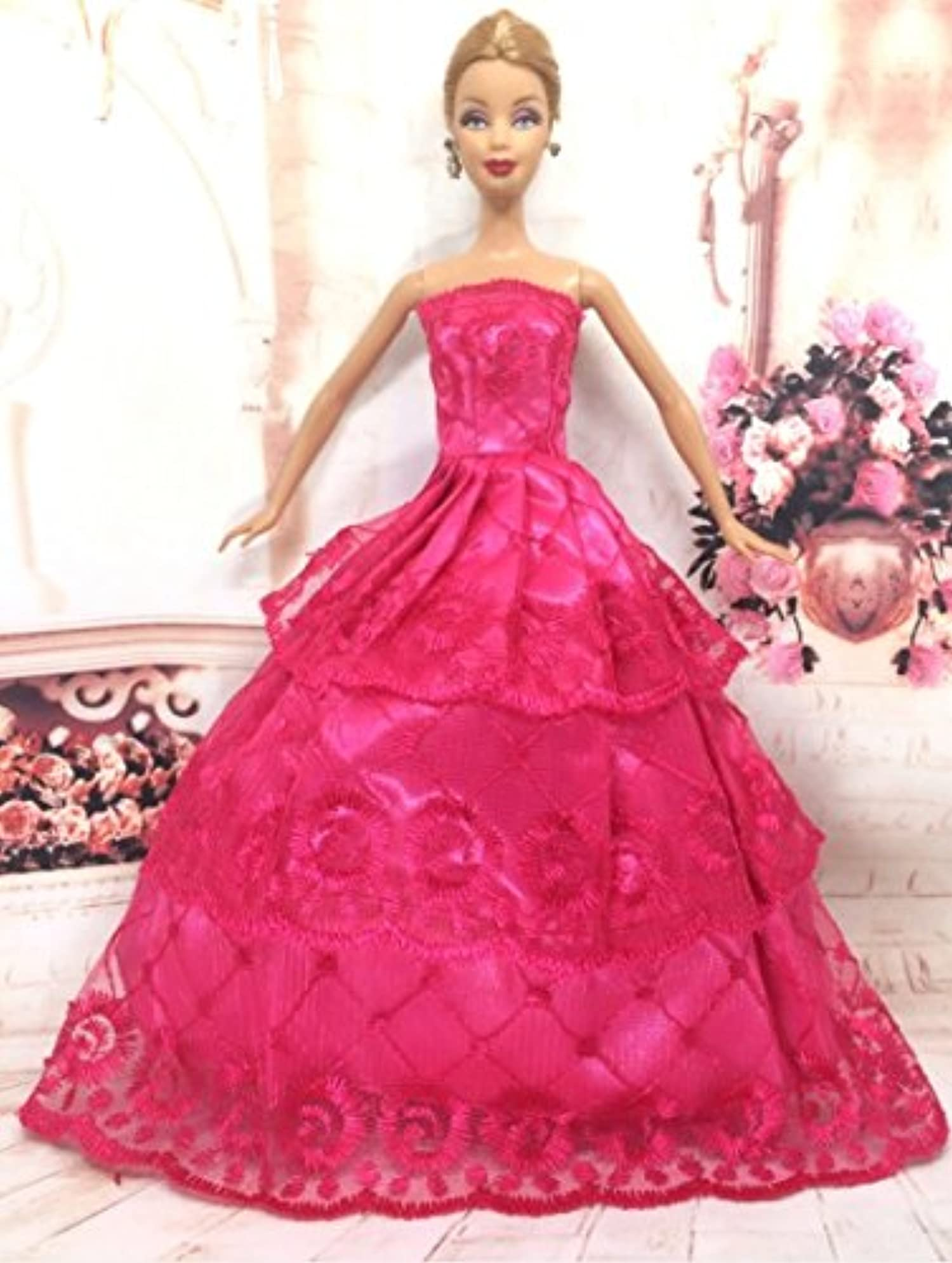 e Pcs Princess Doll Wedding Dress Noble Party Gown For