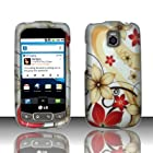 Pretty Flower Hard Snap On Case Cover Faceplate Protector for LG Optimus T P509 T-Mobile / LG Phoenix P505 AT&T / LG Thrive P506 AT&T + Free Texi Gift Box