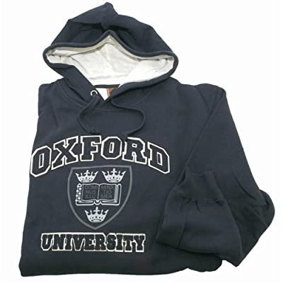 Oxford University Unisex Hooded Sweatshirt Top (4 Colour) (XXL - 50inch - 52inch) (Navy)