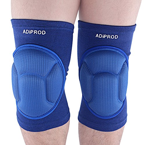 Knee Pads , ADiPROD (1Pair) Thick Sponge Collision Avoidance Kneeling Kneepad Outdoor Climbing Sports Riding Protector Protection (Blue) (Heat Track Mats compare prices)