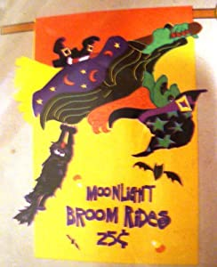 "Halloween Broom Rides 30"" by 42"" Garden Flag"