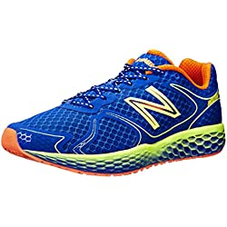 New Balance Men's M980V1 Fresh Foam Running Shoe, Blue/Yellow, 11.5 D US