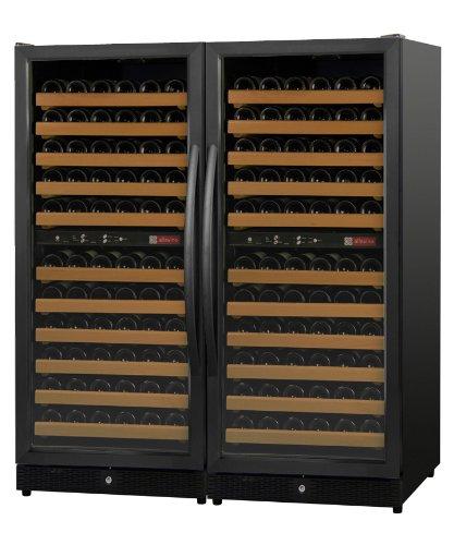 Allavino 2X-Mwr-1212-Bb 242 Bottle Multi-Zone Wine Cellar Refrigerator - Black Cabinet And Doors