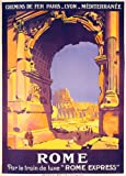 ROME ROMA TRAVEL TOURISM ITALIA ITALY ITALIAN LARGE VINTAGE POSTER REPRO