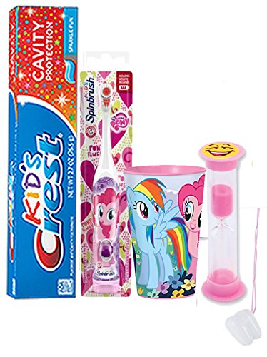 my-little-pony-pinkie-pie-4pc-bright-smile-oral-hygiene-set-spin-toothbrush-crest-sparkling-toothpas