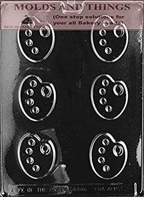 ARTIST PALETTE Chocolate Candy Mold With © Candy Making Instruction -set of 3