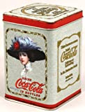 Vintage Coca Cola Storage Tin - Pale Blue