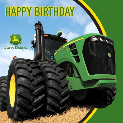 John Deere Happy Birthday Luncheon Napkins, 16 Count - 1