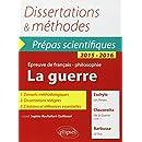 La Guerre Dissertations & Méthodes Eschyle, Les Perses - Clausewitz, De la guerre (livre 1) - Barbusse (Le feu) - Prépas Scientifiques Français / Philosophie 2015-2016