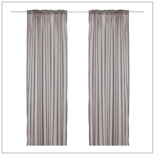 Ikea Vivan Pair of Curtains in Gray Color 57 x 98 1/2""