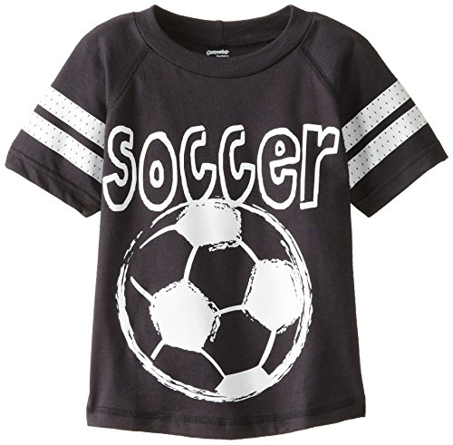 Gerber Graduates Little Boys' Raglan Sleeve T-Shirt Soccer, Black, 3T