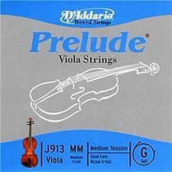 D'Addario, Viola Strings, Prelude, Medium - G J913 MM, Violin