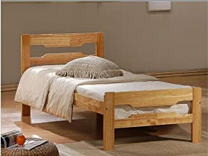 Cloudseller HARDWOOD BED FRAME HEARTLAND AMELIA SINGLE CHERRY COLOUR       Customer reviews and more information