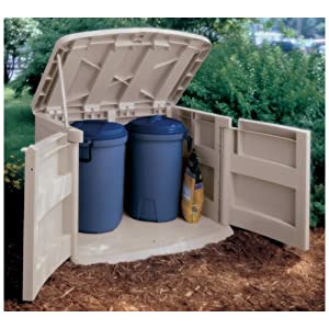 Horizontal Garden Storage Shed Box