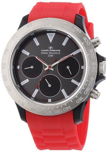 Tom Tailor - 5411203 - Montre Femme - Quartz Analogique - Bracelet Plastique Rouge