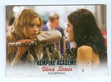 Lucy Fry and Zoey Duetch trading card Vampire Academy 2014 Leaf #34 Princess Lisa Dragomir Rose Hathaway