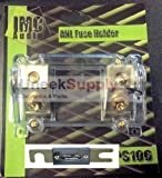 IMC Audio Inline ANL Fuse Holder 0 2 4 Gauge PS106 with 1 80 Amp ANL Fuse