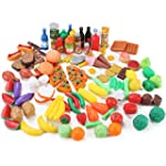 120 Piece Deluxe Pretend Play Food As...