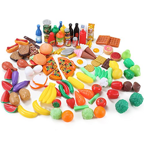 Toy Food For Toddlers : Deluxe food assortment toy set pcs play kitchen kids