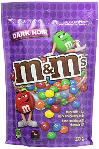 M&M's Dark Chocolate Candies Stand up Pouch 230g